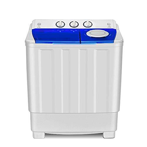 Waschmaschine 9,0 kg halbautomatische Radzylinders Doppel Barrels Waves Eluieren Masse ältere Menschen mit Einer halbautomatischen Integral Blaue transparente Abdeckung