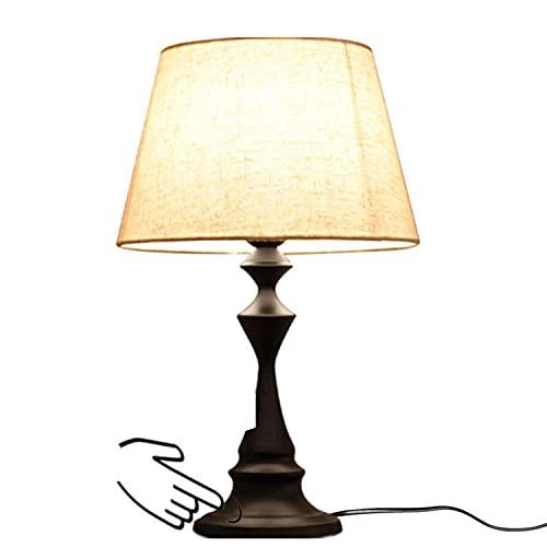 Lámpara de mesita de noche, control táctil, moderna, lámpara de escritorio regulable, luz nocturna, lámpara de noche para dormitorio, salón, oficina, salón Girl Boy, interruptor táctil