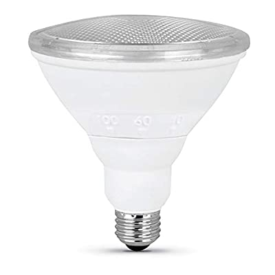 "Feit Electric PAR38/ADJ/950CA 90W Equivalent 12.5 Watt Dimmable IntelliBulb BeamChoice LED PAR38 Reflector Bulb, 5""H x 4.75"" D, 5000K Daylight"