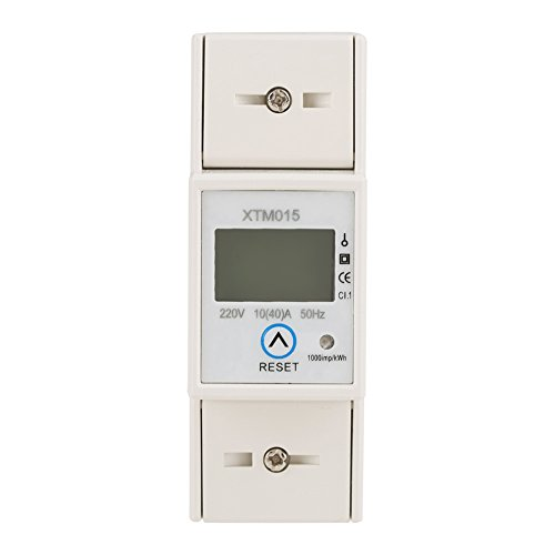 220v 10 (40) DIN Schienen Stromzähler, Elektronischer KWh Zähler, Wechselstromzähler Din Schiene Digitales Elektronisches Messgerät (kwh) Xtm015 1 Und 2 Leiter Leistungsmessgerät
