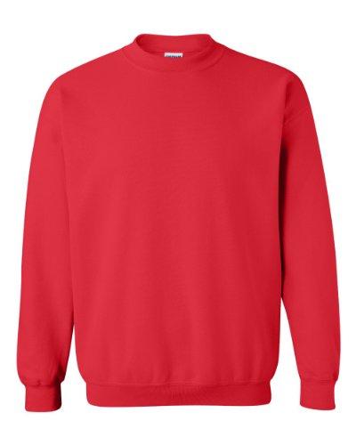 Gildan Men's Heavy Blend Crewneck Sweatshirt - Large - Red