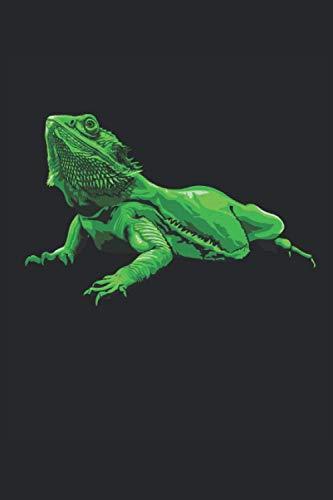 Dragon barbudo: Iguana reptil lagarto cuaderno de regalos forrado (formato A5, 15, 24 x 22, 86 cm, 120 páginas)
