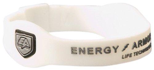 Energy Armor - Pulsera de Silicona Unisex Blanco White/Silver Talla:Extra-Small