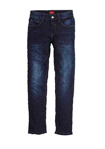 s.Oliver RED LABEL Jungen Regular Fit: Slim leg-Denim mit Waschung dark blue stretche 146.SLIM