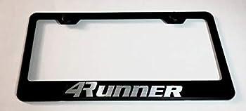 Metal Stainless Steel License Plate Frame Tag Holder for 4 Runner Applicable to 4Runner tag License Frame  Black Fit  4Runner