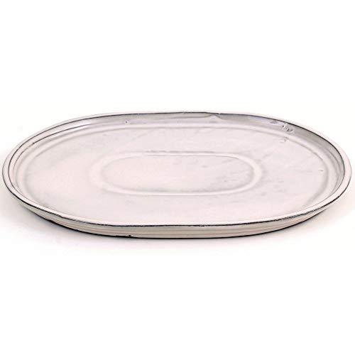 Bonsai 54312 Soucoupe ovale Crème 31 x 24 cm