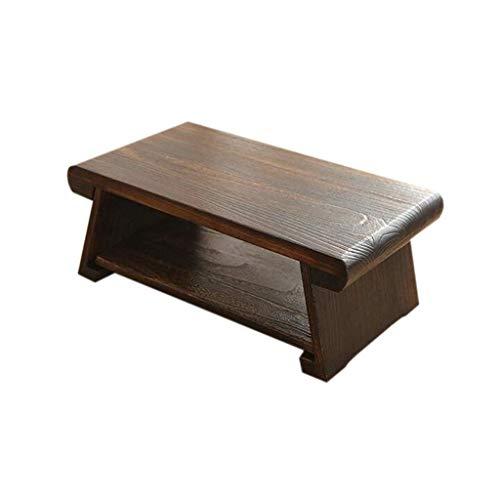 ZXL bed tafel, massief houten huishouden short small salontafel multifunctionele laptoptafel (kleur: L)