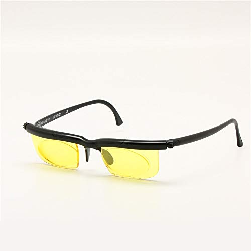 YABAISHI. Schnittstellencomputer Eyewear Focus Einstellbare Gläser Anti Blue Ray -6D bis + 3D Dioptrien Myopie-Lupe-Variablenstärke (Color : 1)