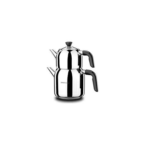 Korkmaz A079-01 Kappa Mega Tea Pot Set Caydanlik Takimi Teekannen set