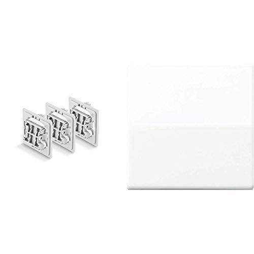 Smart Home 3tlg. Unterputz Adapter Set (für Jung (J2) Schalter) & Jung AS591WW Wippe für Schalter/Taster