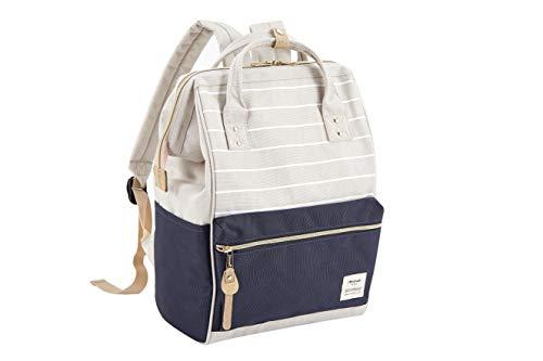 Pianeta Rucksack Damen Rucksack Herren Tagesrucksack mit Laptopfach, Unisex Modern Rucksack Daypack, Wasserdichter Schulrucksack,Lässiger Backpack Schule Freizeit Uni Arbeit (Grau Stripe Blau)
