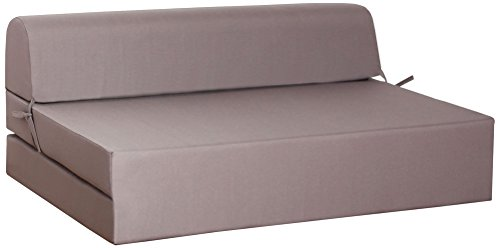 CANAPES TISSUS Enjoy 2 Chauffeuse Canapé-Lit, Polyester, Taupe, 119 x 78 x 48 cm