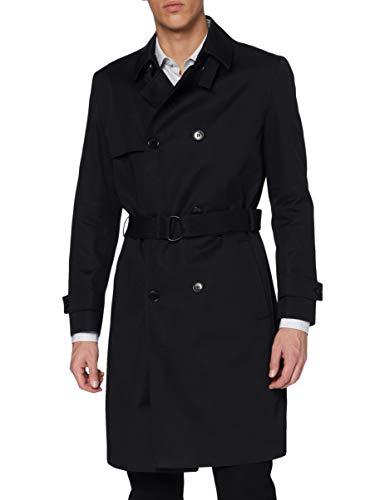 HUGO Herren Maluks2111 10110503 01 Trenchcoat, Black1, 44