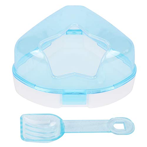 VILLCASE Hamstersand Bad Kunststoff Sand Bad Behälter mit Schaufel Hamster Bad Sauna Toilette Badewanne für Maus Hamster Chinchilla Ratte Rennmaus (Blau)