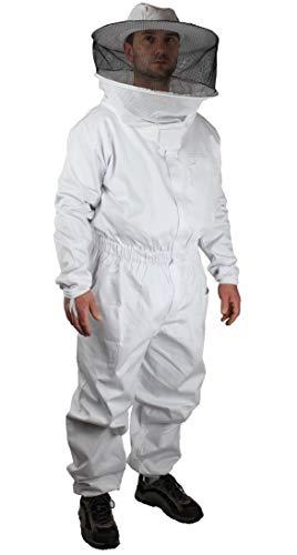 TÜV zertifizierte Bekleidungsqualität für Imker: Imkeroverall, Imkeranzug, 100% atmungsaktive Baumwolle - Sicherheit + Komfort; erhöhter Bewegungsradius - Größe 128 bis 5XL