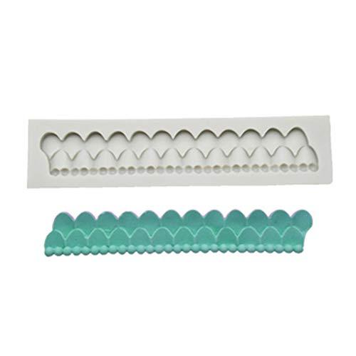 Moldes de silicona ColourQ DIY barrocos para tartas de alivio de pergamino barroco estilo curlicues Scroll Lace Fondant Silicone Mold,