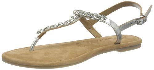 TAMARIS Damen 1-1-28154-24 Sandale, Silver, 38 M EU