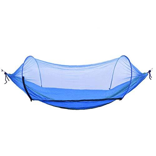 JRXyDfxn Camping Hammock Moskitonetz Outdoor-Reisen schlafen Hängematte Bett Anti Mosquito Camping Hammock Outdoor-Zubehör Dunkelgrün und Blau 1Set
