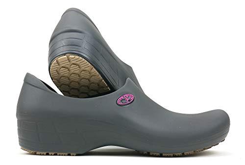 Women's Cute Nursing Shoes - Waterproof Slip-Resistant - Keep Nursing (5, Gray/Pink Stetho)