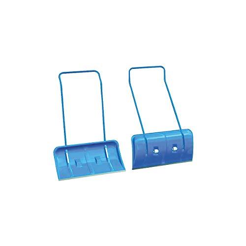 Certeo Schneeschieber mit Rädern | Blau | Schneeschaufel Schneeräumer Schneeschipper Schneeschippe Schaufel Schieber