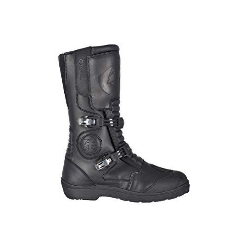 Oxford Explorer - Botas de piel impermeables para motocicleta, color negro, talla 42