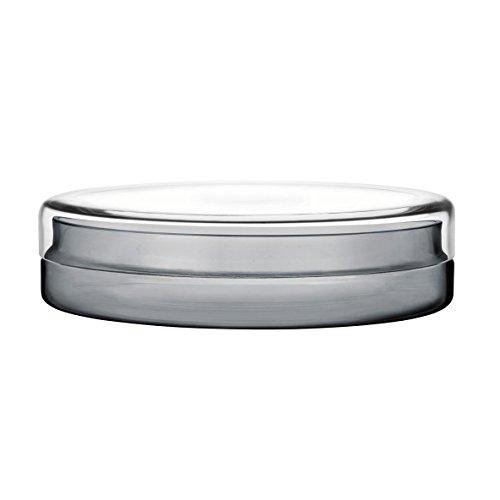 Iittala Vitriini - Aufbewahrungsdöschen Rund - 220 x 60 mm - Klar/Grau