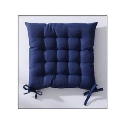 Today 261206 Assise Matelassée Polyester Ciel d'orage/Bleu Marine 40 x 40 cm