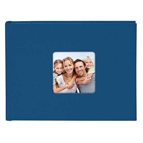 Goldbuch Fotoalbum met uitsparing voor foto's, Living, witte pagina's met pergamijnscheidingsbladen, hoogwaardige omslag van structuurpapier in linnenlook
