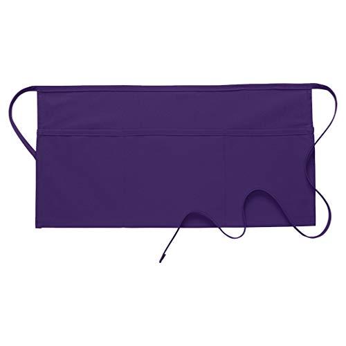 DayStar Apparel 100 Three Pocket Waist Apron, Purple