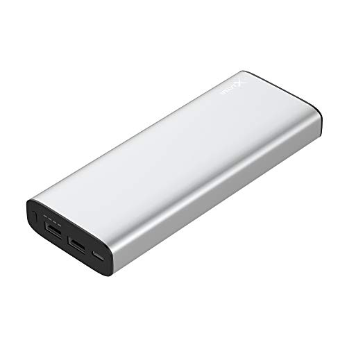 XLayer Powerbank PLUS kompatibel mit MacBook 20.100mAh, Zusatzakkukompatibel mit MacBook oder MacBook Pro, Silber