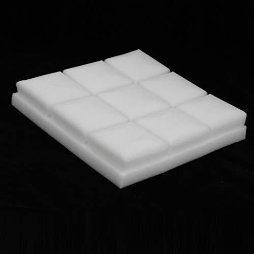 perfeclan Lot de 12 de 25x25x5cm Insonorisation Acoustique D'Isolation Traitement de Mousses Carreaux Panneaux - Blanche