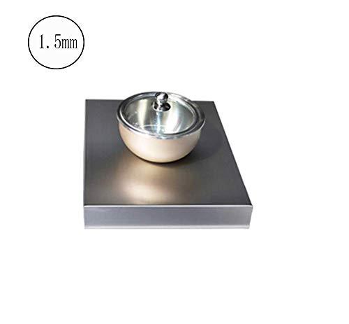 Solide Keuken roestvrij staal inductie kookplaat beugel aardgas gasfornuis deksel tafel kookplaat coverThickness: 1.5mm, Afmetingen: 50 * 80 * 9cm (Color : 1.5mm, Size : 48 * 35 * 7cm)