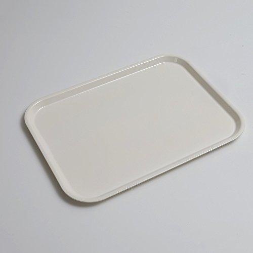 食洗機対応 ノンスリップトレー ホワイト 41cm(L) 白無地