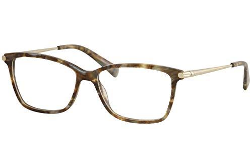 Longchamp LO2621, Acetate Occhiali da Sole Marble Brown Azure Unisex Adulto, Multicolore, Standard