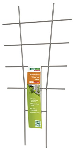 Windhager Blumenstütze, Rankhilfe, Gitterspalier, Rankgitter für Topfpflanzen, Metall, 44 x 24 cm, 05708