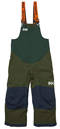 Helly Hansen Kids & Baby Rider 2 Bib Waterproof Insulated Winter Snow Pant Overalls, 469 Forest Night, Size 1