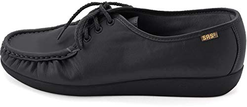 SAS Women's Siesta lace up Comfort Shoe, Black, 7 Wide
