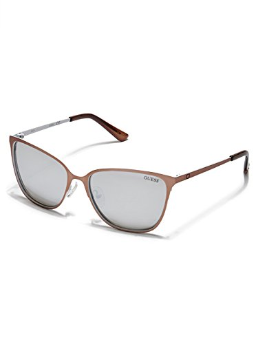 Guess GF6010 29C57 Guess Sunglasses GF6010 29C 57 Schmetterling Sonnenbrille 57, Braun