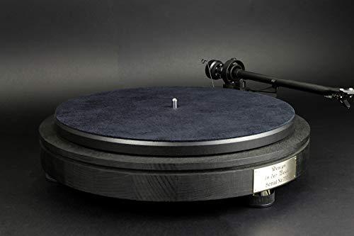 Deurmat van zwart leer voor platenspeler - DM233