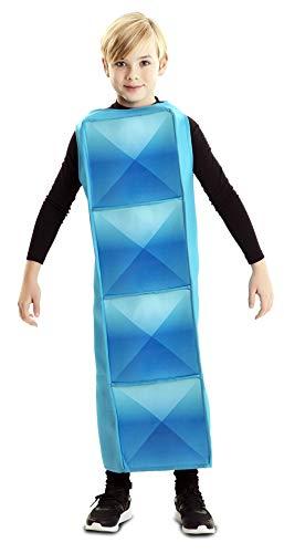 EUROCARNAVALES Disfraz de Tetris Cyan Infantil 7 a 9 años