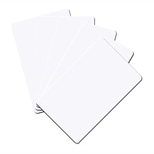 5 etiquetas de tarjetas de visita NFC | NXP Chip NTAG215 | 504 bytes de memoria | Tarjetas de visita de PVC duro blanco | alta resistencia de escaneado | mismo chip con Tagmo Amiibo
