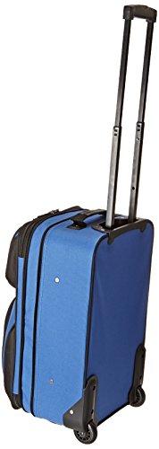 U.S. Traveler Rio Rugged Fabric Expandable Carry-On Luggage Set, Royal Blue, 2-Piece Set