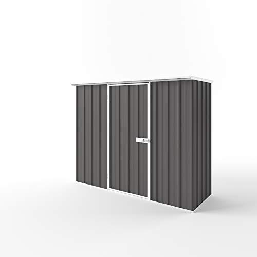 EnduraShed Metallgerätehaus M | Anthrazit | 225x78x182 (B x T x H) | Geräteschrank/Geräteschuppen/Gartenschrank mit grosser Raumeffizienz