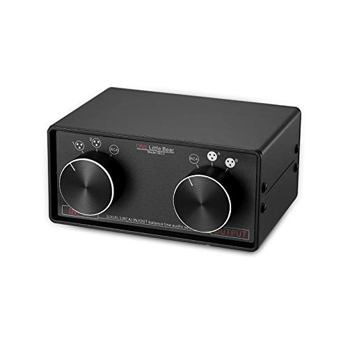 Nobsound Little Bear MC3 3-IN-3-OUT XLR Balanced/RCA Stereo Converter Audio Selector Splitter Box Passive Preamp XLR to RCA Audio Switch