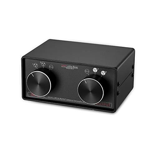 Nobsound, preamplificatore passivo XLR per commutare l\'audio in RCA, Little Bear, modello: MC3, convertitore stereo 3 ingressi e 3 uscite bilanciate XLR e RCA