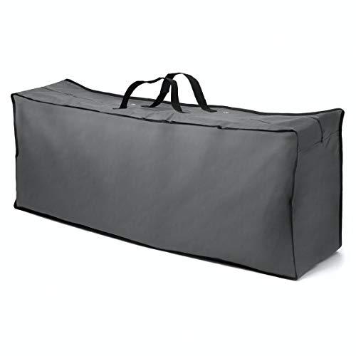 bonsport Schutzhülle für Polsterauflagen 130 x 32 x 52 cm - Wasserabweisende Tasche für Auflagen - Gartenauflagen Aufbewahrungstasche aus 600D Polyester