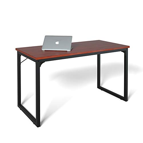 Coleshome Computer Desk 47, Modern Simple Style Desk for Home Office, Sturdy Writing Desk,Teak