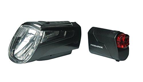 Trelock Batterie LED Leuchte Set I-go LS 560/720 Control schwarz mit Halter