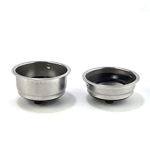 SODIAL Filtros de café de acero desmontables para cafetera, filtro de café, accesorios para la oficina en el hogar (2 unidades)