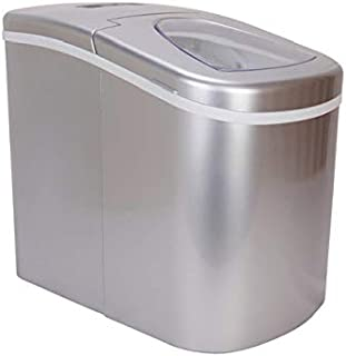 Prime Home Portable Ice Maker for Countertop - Makes Ice in 8 Minutes - Electric Ice Making Machine - Silver